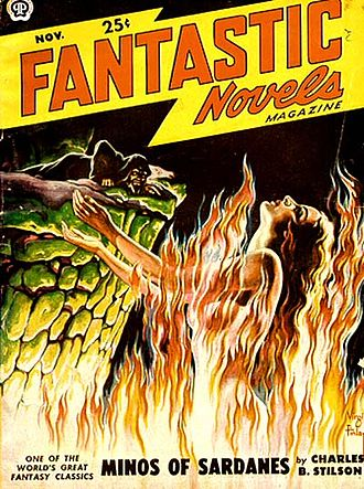 Fantastic Novels - The cover of the November 1949 issue, by Virgil Finlay.