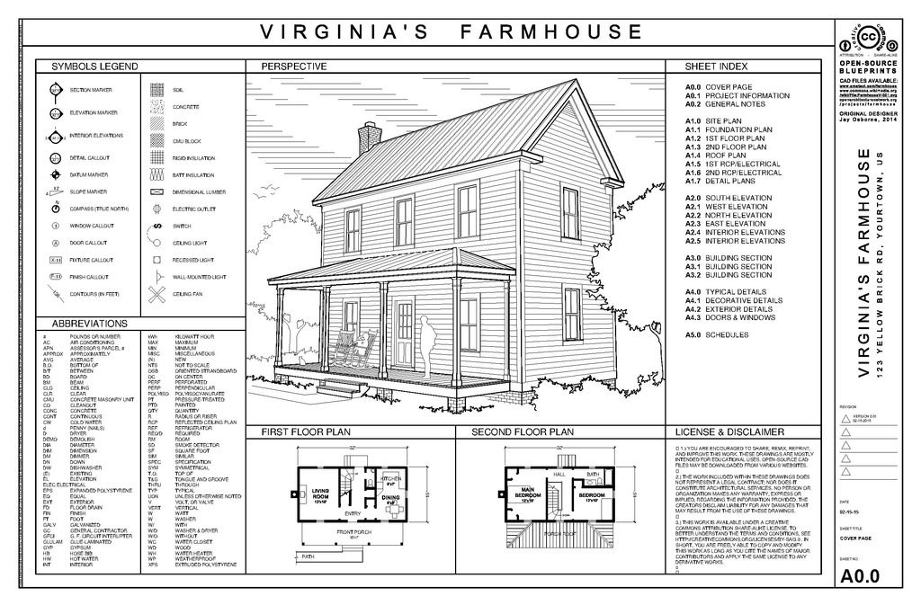 File farmhouse drawing set v wikimedia commons - General notes for interior design drawings ...