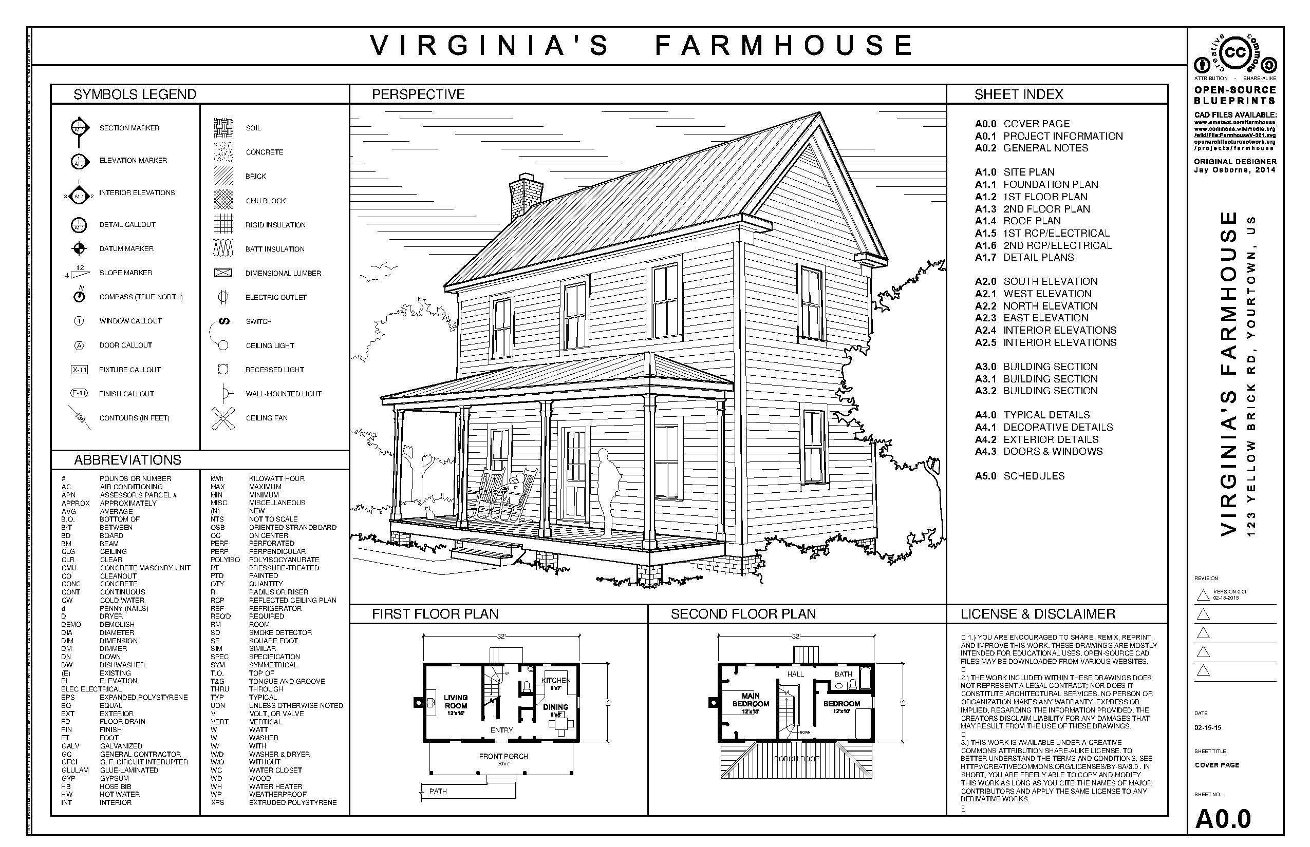 File farmhouse drawing set v wikimedia commons for Building planning and drawing free pdf download