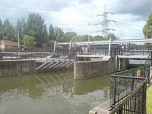 River Lee Flood Relief Channel - Flood Relief Channel at Feildes Weir