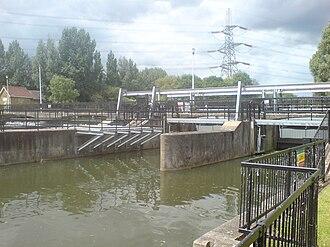 Feildes Weir - Flood channel