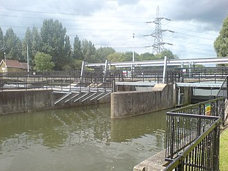 River Lee Flood Relief Channel - Flood Relief Channel at Feildes Weir