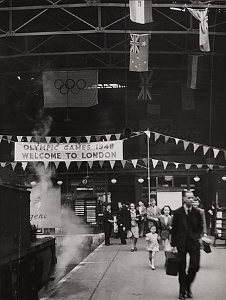 Fenchurch Street railway station - The station during the 1948 Summer Olympics