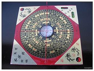 Feng shui - A feng shui compass (luopan)