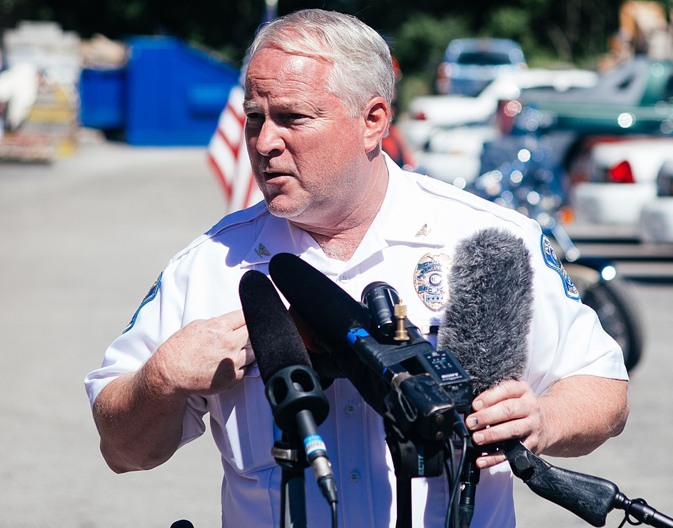 Ferguson Police chief Thomas Jackson at press conference.jpg