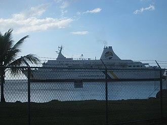 Port of Mayagüez - Mayagüez to Santo Domingo ferry docked at the Port of Mayagüez