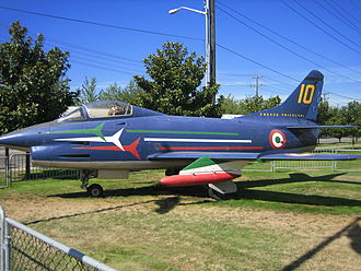 Fiat G.91 - A preserved G.91. Note the Frecce Tricolori's colors