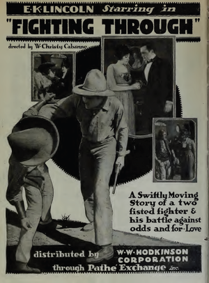 E.K. Lincoln - Image: Film Daily 1919 E K Lincoln Fighting Through 1 Christy Cabanne