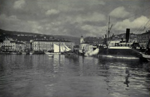 Port of Rijeka - A 1923 photograph of the Port of Rijeka