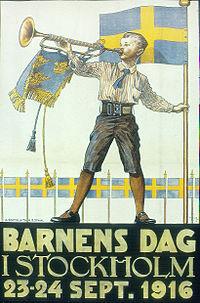 Børnenes dag i Stockholm 1916.