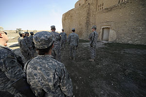U.S. soldiers tour the Saint Elijah Monastery ...