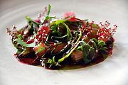 Flickr - cyclonebill - Rå rejer med tang, rabarber og urter.jpg