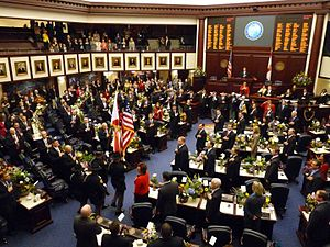 Florida House of Representatives - Image: Florida House Chamber March 2012