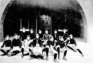 Florida State Seminoles football - 1899 West Florida Seminary football team at College Hall; College Hall was located at the present site of the Westcott Building on the campus of Florida State University.