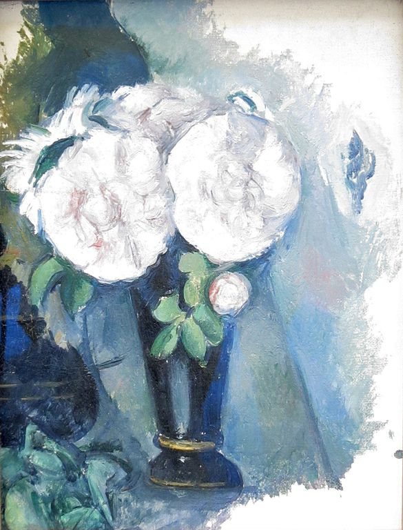 Fileflowers In A Blue Vase By Paul Czanne 1880g Wikimedia