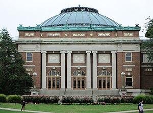 Foellinger Auditorium - Image: Foellinger Auditorium University of Illinois at Urbana Champaign closer