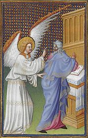 Folio 43v - The Archangel Gabriel Appears to Zachary.jpg