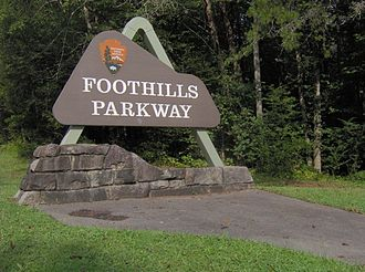 Foothills Parkway - Foothills Parkway's Chilhowee entrance at Walland