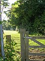 Footpath and gate from the road - geograph.org.uk - 451037.jpg