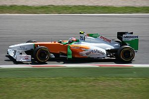 Force India VJM04 di Resta 2011 Spanish GP.jpg