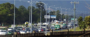 Bruce Highway - The Bruce Highway in Cairns southern suburbs at morning peak hour.