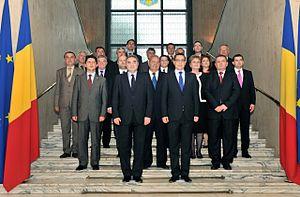 First Ponta cabinet - Image: Fotografie de grup a membrilor Cabinetului Victor Ponta