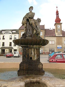 Fountain in Zabreh - statue.jpg