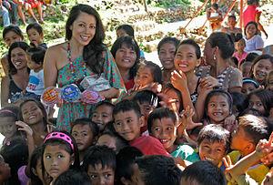 Rachel Grant - Fountain of Love village school build in Bani, Philippines.