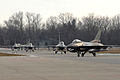 Four F-16s at Selfridge Air National Guard Base.jpg