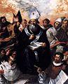 Francisco de Herrera (I) - St Basil Dictating His Doctrine - WGA11378.jpg