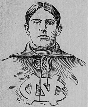 Frank Bennett (American football) - Depiction of Bennett c. 1900