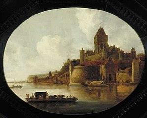 Gezicht op Nijmegen met het Valkhof