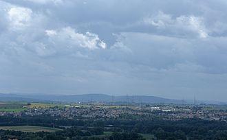Freiberg am Neckar - View from the north, down Ingersheim hills, upon Freiberg