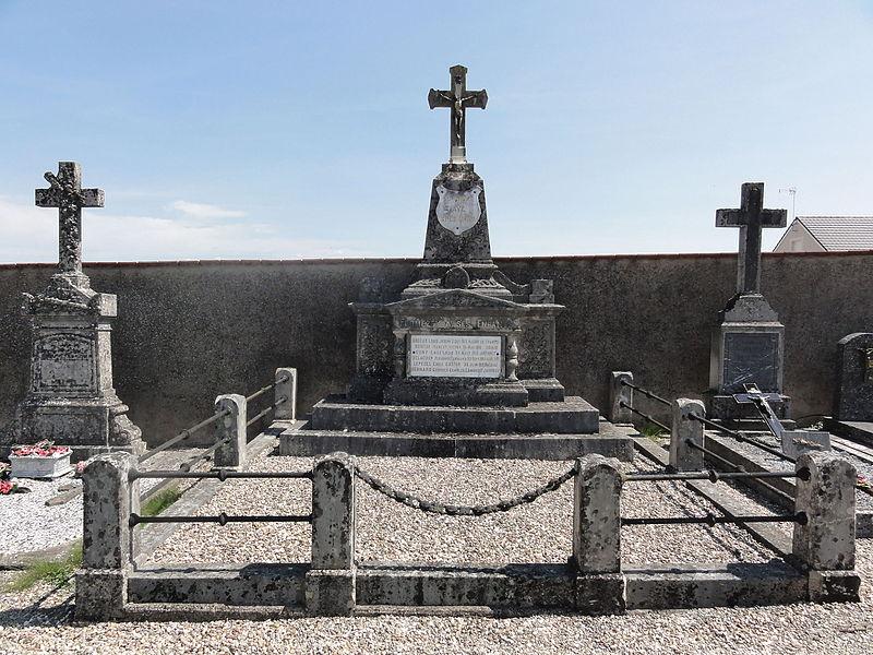 Fromezey (Meuse) Monument aux morts au cimetière