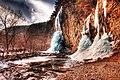 Frozen waterfall in HDR (6850088675).jpg