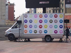 Furgoneta de Motorola