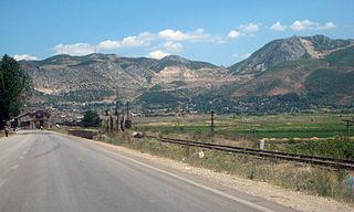 Prrenjas Municipality in Elbasan, Albania