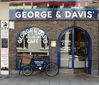 Little Clarendon Street - George and Davis' Ice Cream Café on Little Clarendon Street.