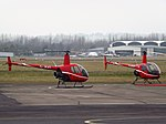 G-JKHT With G-JKAT Robinsons R22 Helicopters (32194037823).jpg