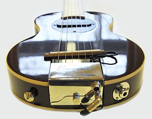 G-sharp guitar - G-Sharp guitar with acoustic bridge.