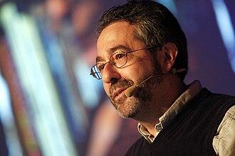 Deus Ex (video game) - Image: GDC Europe Monday Keynote Warren Spector of Junction Point (4897439817)