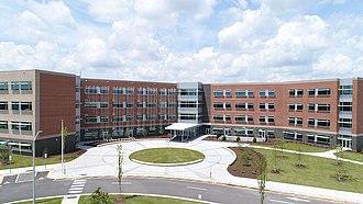 Garner Magnet High School - Image: GMHS Facade