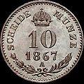 GOW 10 kreuzer 1867 A reverse.jpg