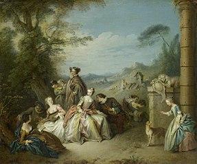 Fête galante in a Landscape