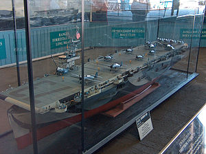 Escort carrier - Model of Gambier Bay at USS ''Midway'' museum