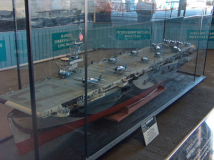 Model of Gambier Bay at USS Midway museum Gambierbaymodel.jpg