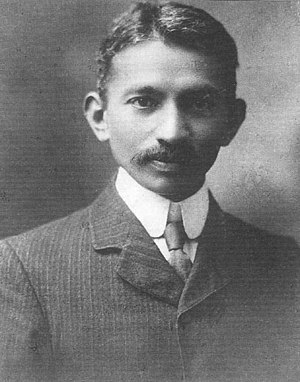 Mahatma Gandhi - Gandhi photographed in South Africa (1909)