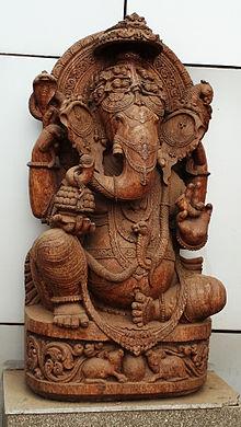 Sculpture De Ganesh, à Bhubaneshwar.
