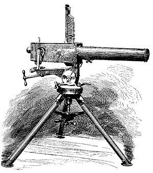 Gardner gun - Lithograph of Gardner Gun