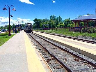Saint-Jérôme station - Image: Gare Saint Jérôme pour les trains de l'AMT